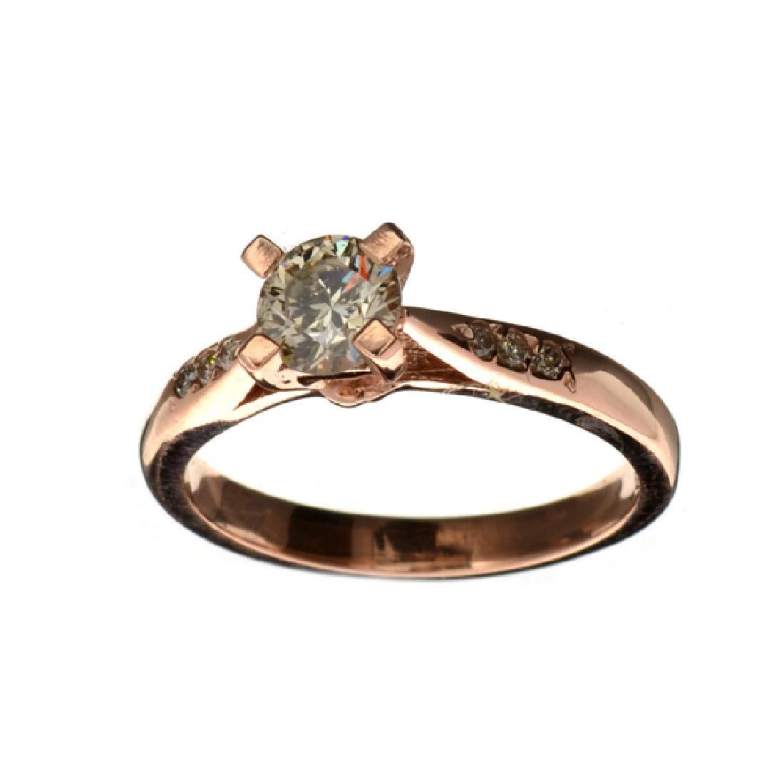 APP: 5.6k Fine Jewelry 14 kt. Rose Gold, 0.64CT Round