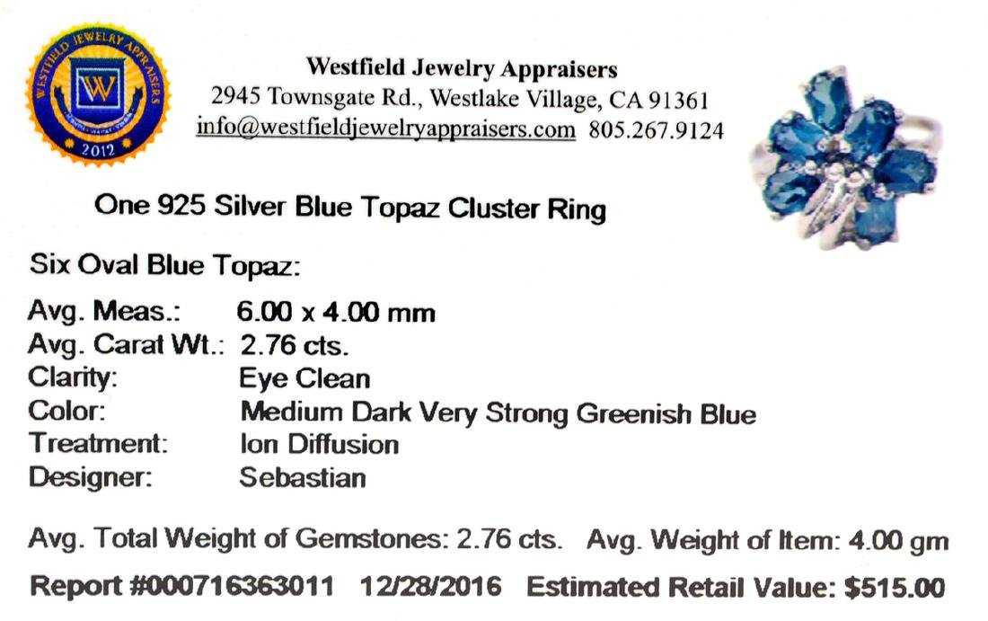 Fine Jewelry Designer Sebastian 2.76CT Oval Cut Blue - 2