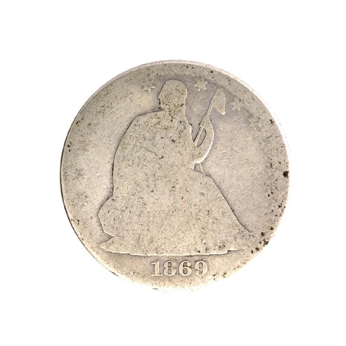 1869 Liberty Seated Half Dollar Coin