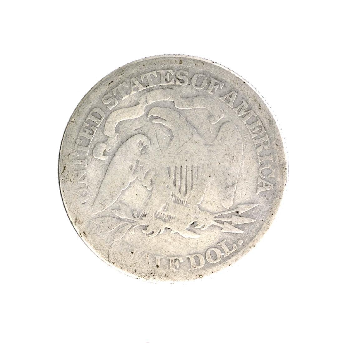 1869 Liberty Seated Half Dollar Coin - 2