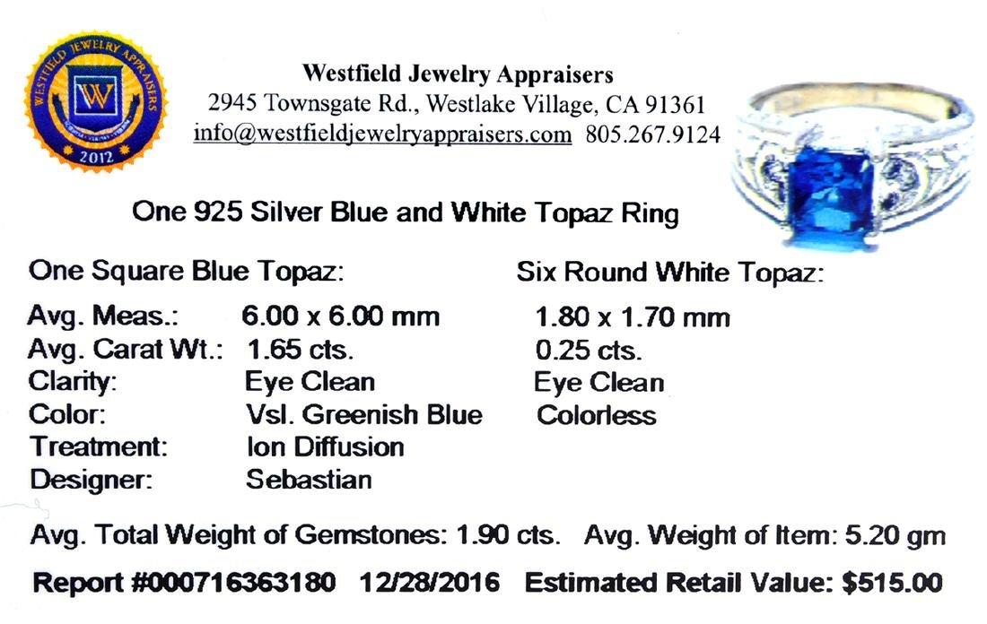 APP: 0.5k Fine Jewelry Designer Sebastian, 1.90CT Blue - 2