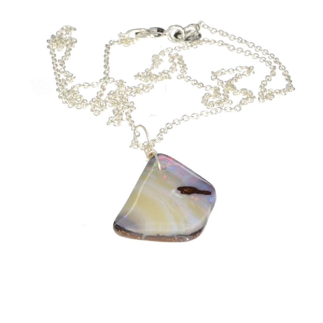 APP: 4.1k 1.10CT Natural Form Boulder Opal Pendant