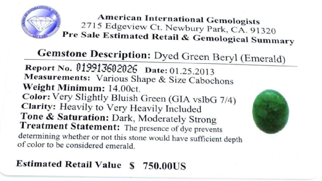 APP: 0.8k 15.65CT Oval Cut Cabochon Green Beryl - 3