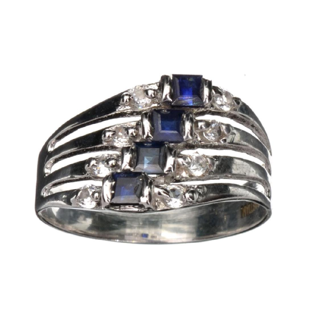Fine Jewelry Designer Sebastian 0.75CT Blue Sapphire