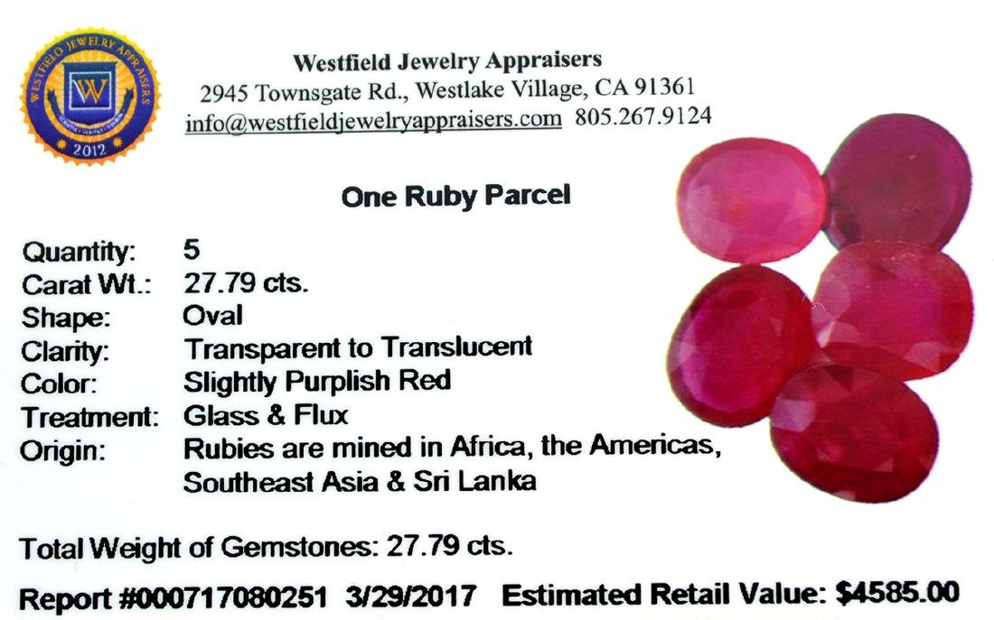 APP: 4.6k 27.79CT Oval Cut Ruby Parcel - 2