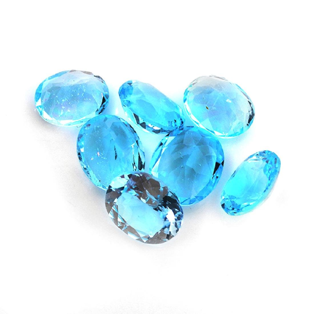 APP: 0.9k 25.00CT Oval Cut Blue Topaz Parcel