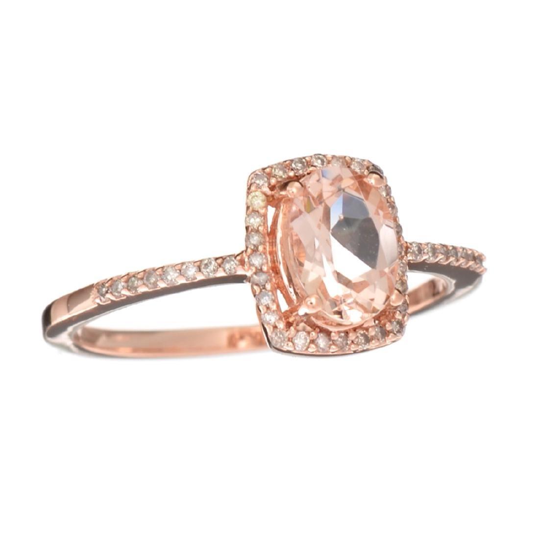 Designer Sebastian 14KT Rose Gold, Oval Cut Morganite