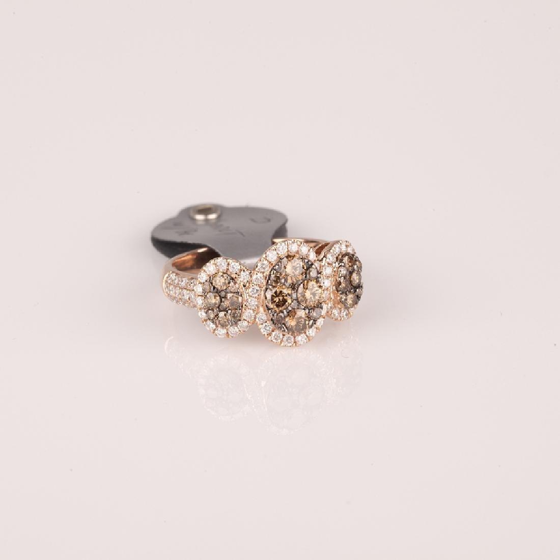 *Fine Jewelry 14 kt. Pink Gold, New Custom Made, 1.00CT