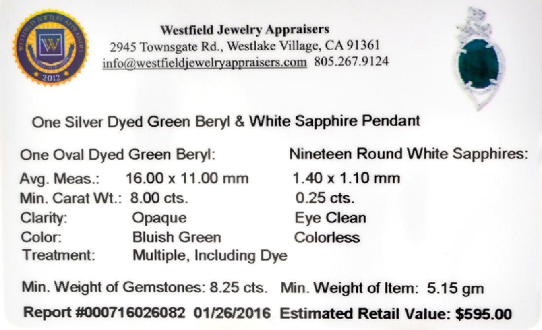APP: 0.6k Fine Jewelry 8.00CT Oval Cut Green - 2