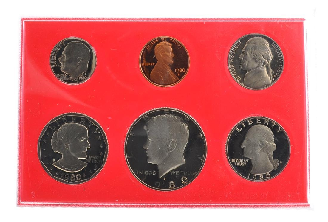 1980 United States Proof Set Coin