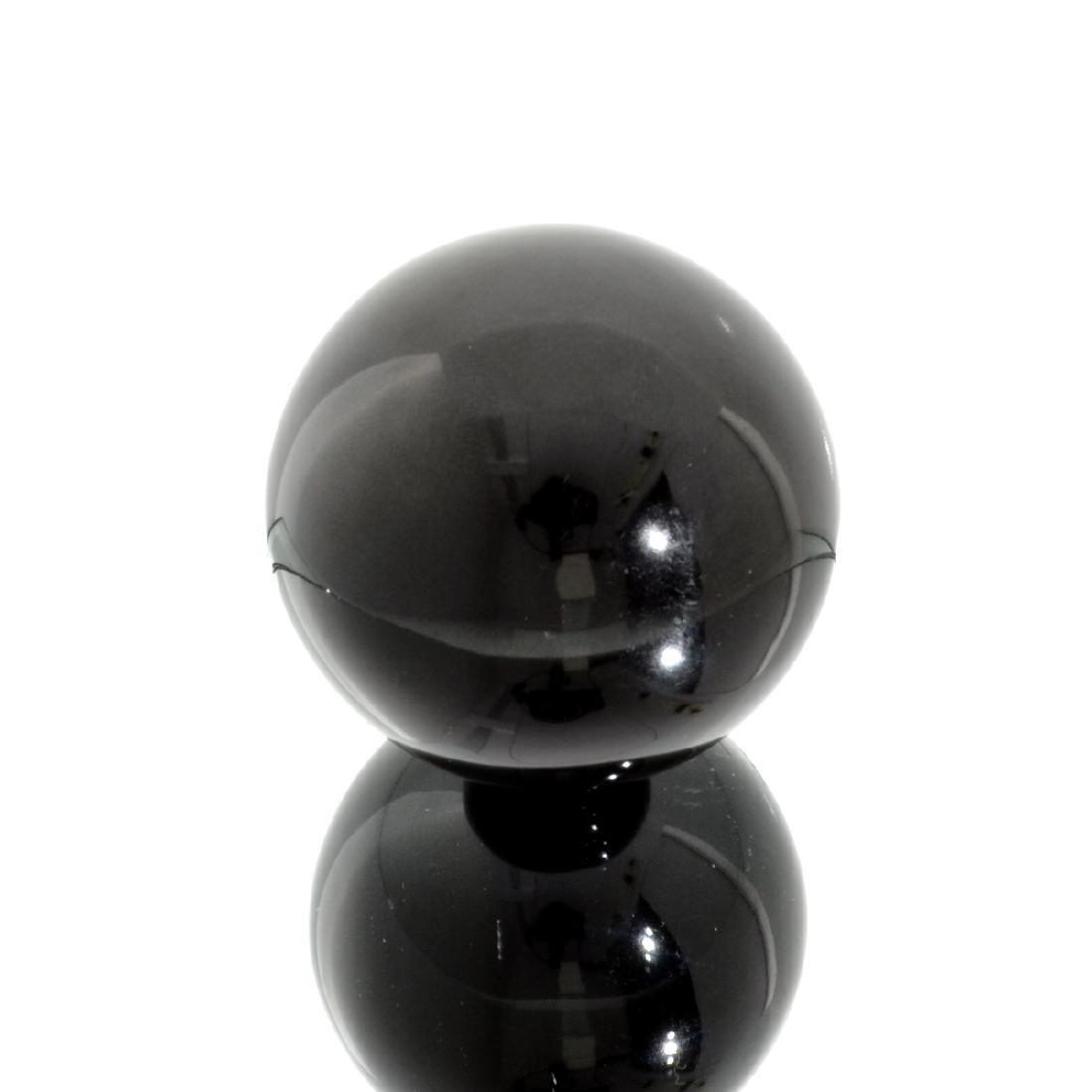APP: 1.6k Rare 1,232.50CT Sphere Cut Black Agate