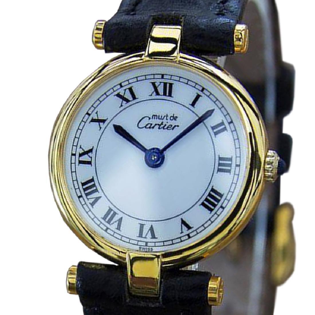 *Cartier Must de Cartier 925 Solid Silver Swiss Made