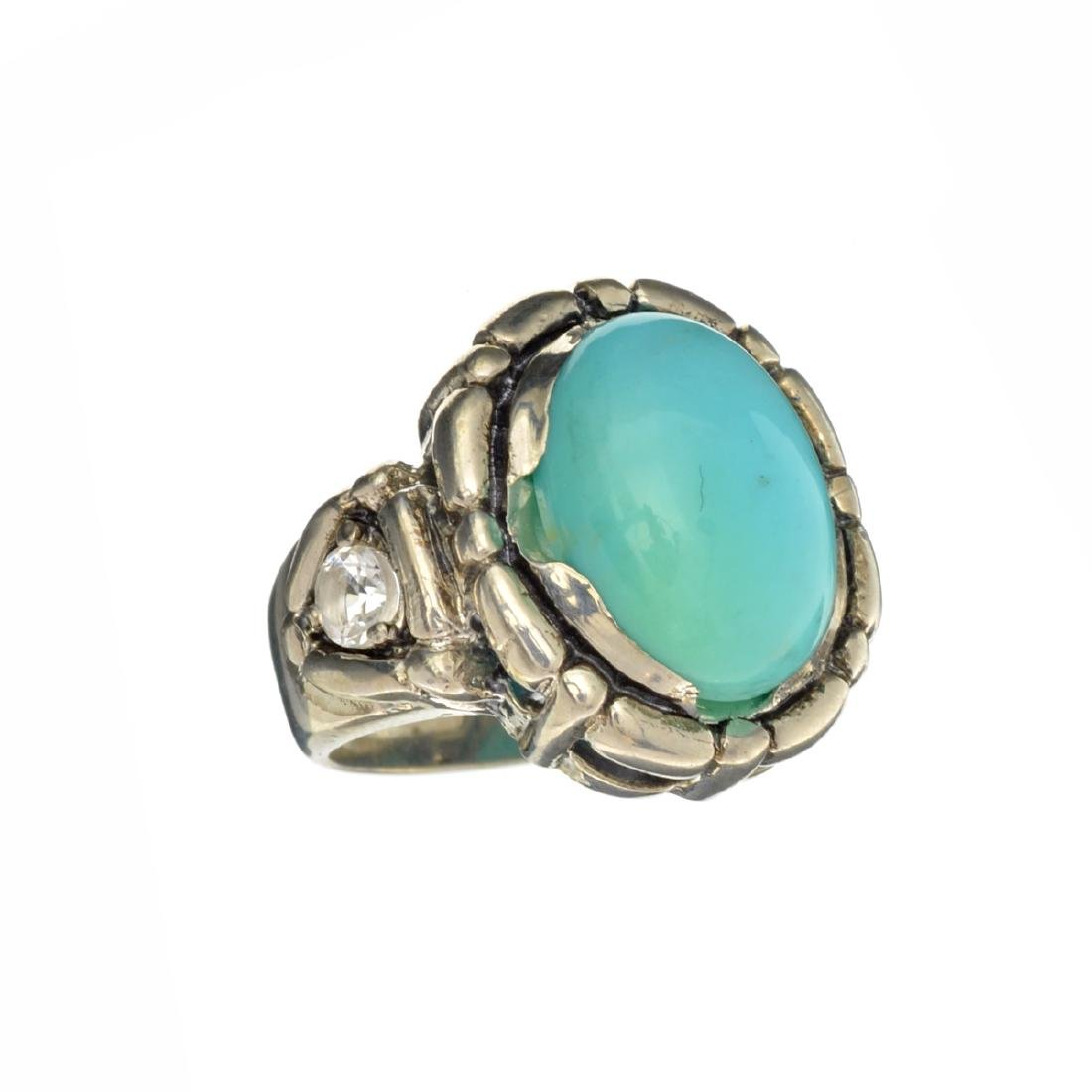 APP: 1.1k Fine Jewelry 7.24CT Blue Turquoise And
