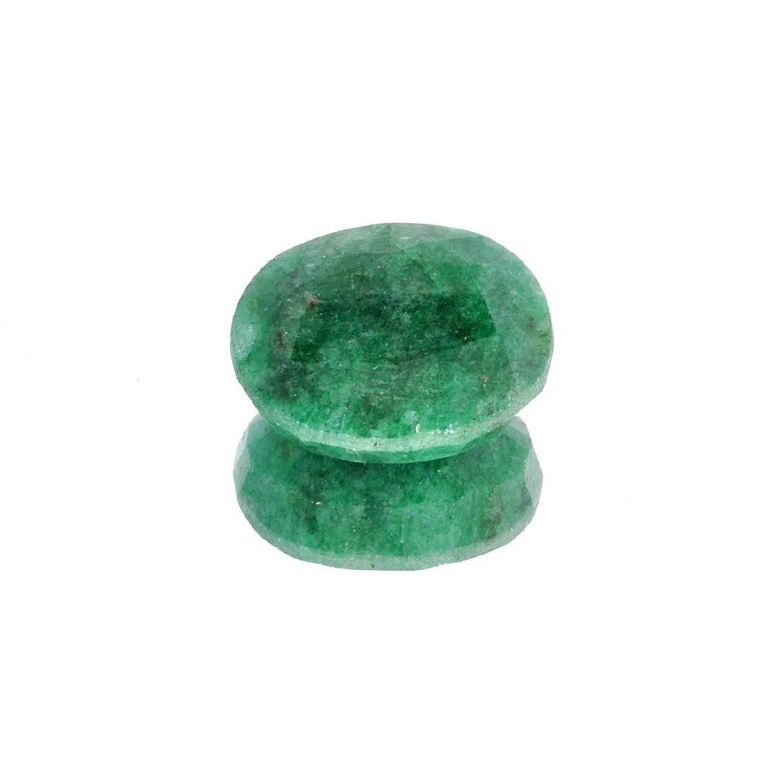 APP: 4.1k 54.41CT Oval Cut Green Emerald Gemstone