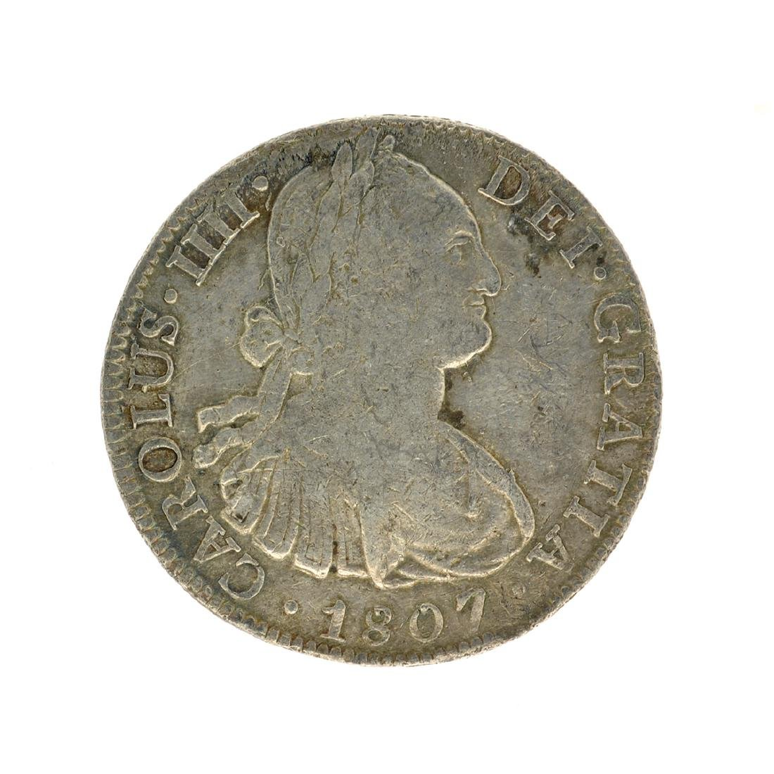 1807 Extremely Rare Eight Reales American First Silver