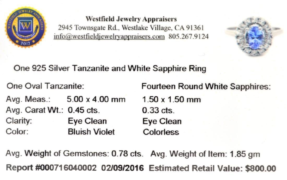 APP: 0.8k Fine Jewelry 0.78CT Tanzanite And White - 2