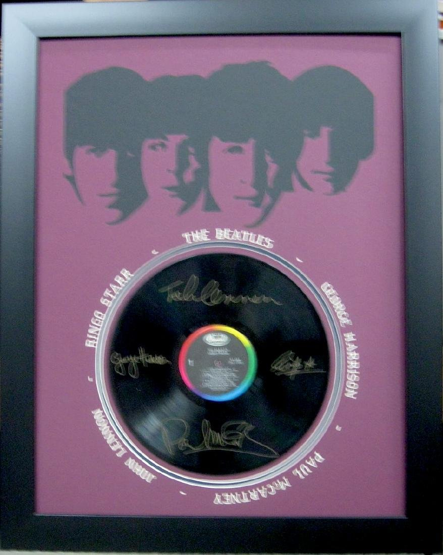 Beatles Engraved Origianl Record Laser Cut Mat