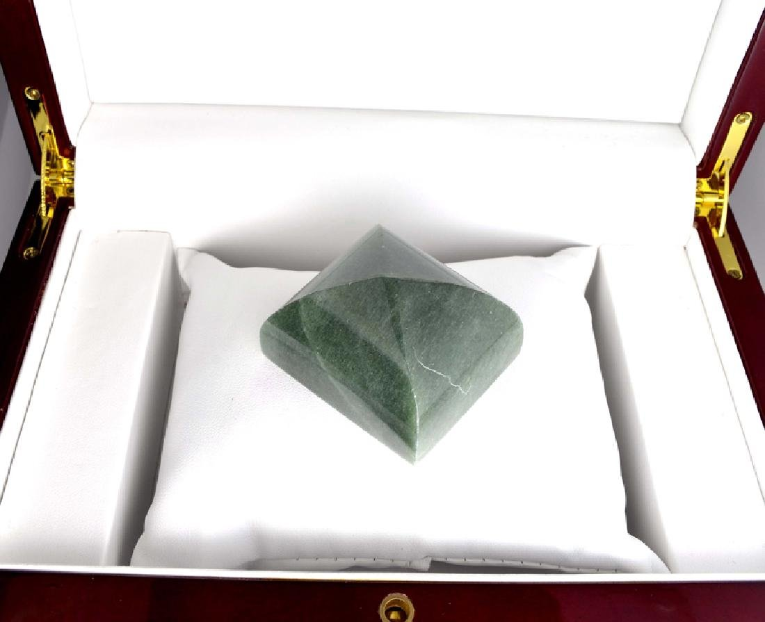 APP: 7.3k 609.50CT Square Cut Green Guatemala Jade - 2