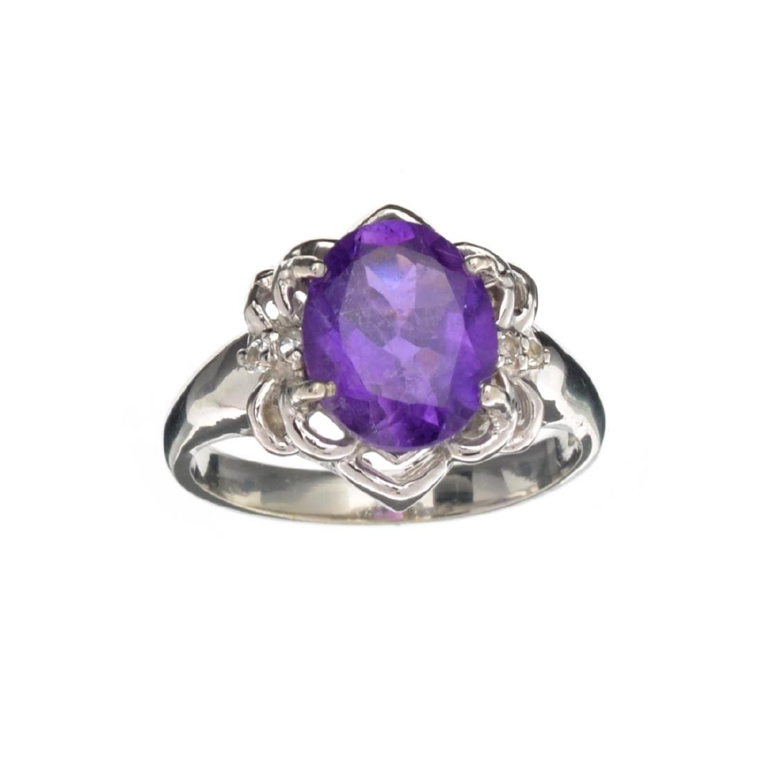 APP: 0.5k Fine Jewelry 3.14CT Purple Amethyst And White