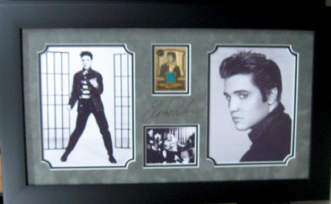 Engraved Elvis Presley Signature With Real Swatch of