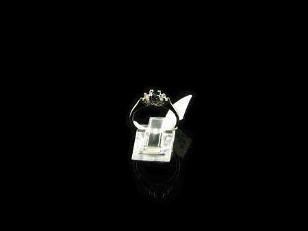 1006: N.R.! .30CT Sapphire and .12CT Diamond Ring, INVE