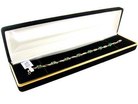 1024: 14 kt. Gold, 3.29CT Emerald and Diamond Bracelet,