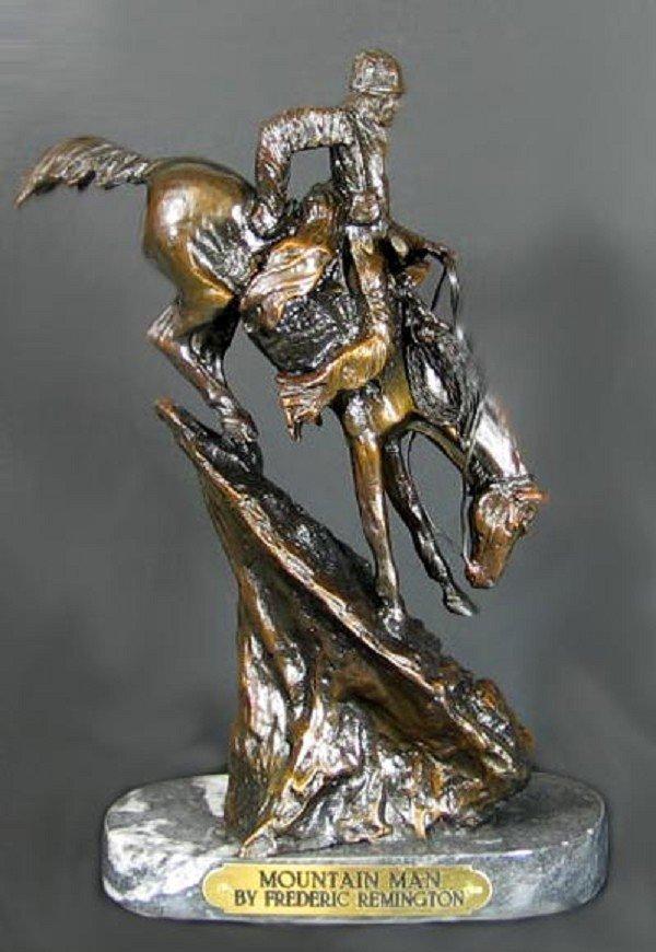 1022: GOV: Suberb Quality Bronze: Frederic Remington -