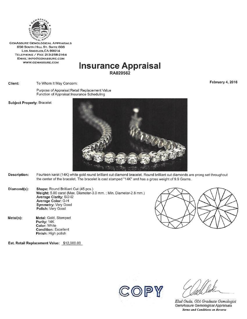 APP: 12k *Fine Jewelry 14KT White Gold, 5.00CT Round - 2