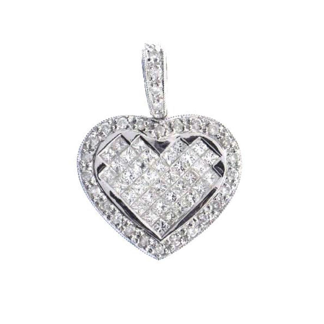 *Fine Jewelry, 14KT White Gold, 0.92CT Princess Cut