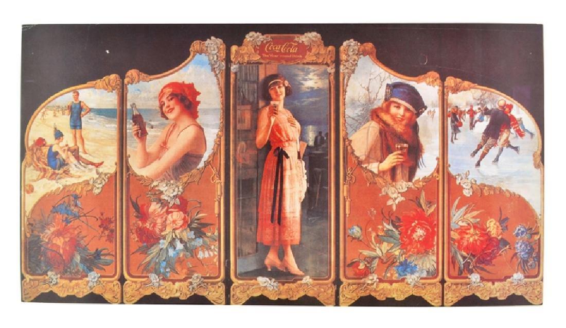 Collectable Coca Cola Advertising Poster (30'' x 16'')