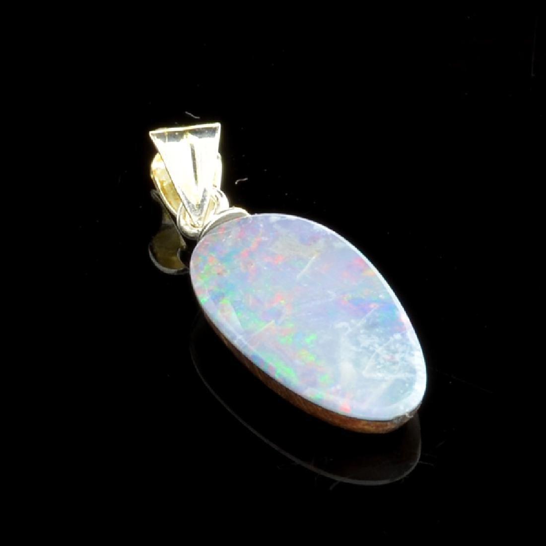 3.45CT Boulder Opal Sterling Silver Pendant