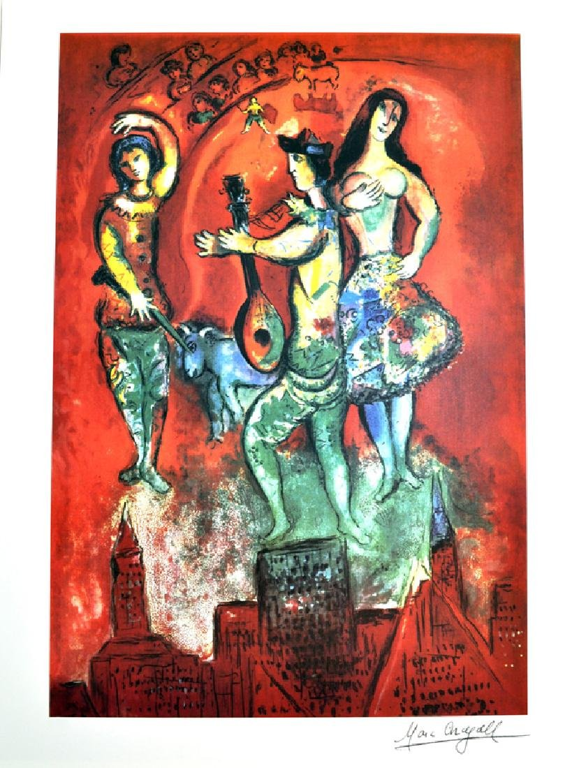 MARC CHAGALL (After) Carmen Print, 210 of 500