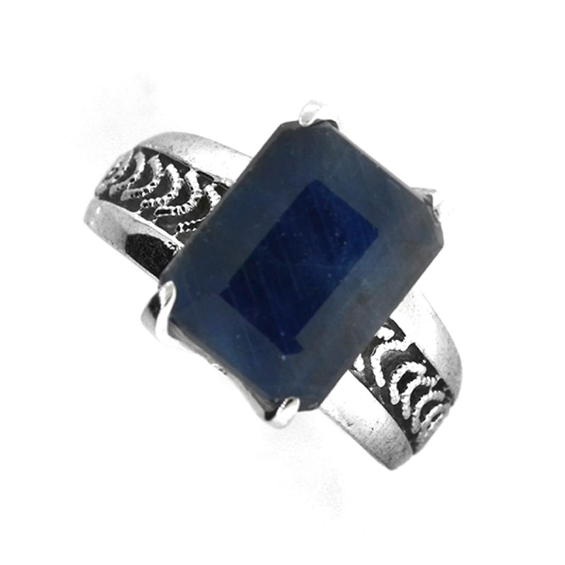 Fine Jewelry Designer Sebastian 6.18CT Emerald Cut Blue