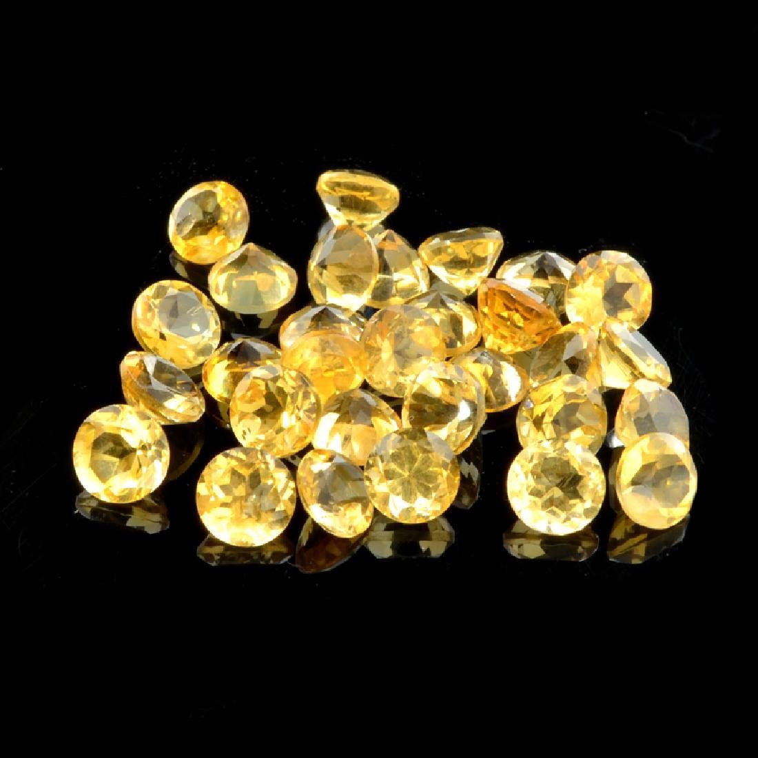 APP: 0.8k 25.00CT Round Cut Golden Honey Citrine Quartz