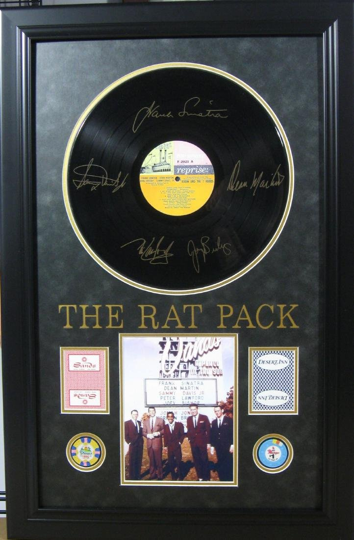 Rat Pack Album, Cards, & Chips - Engraved Signatures
