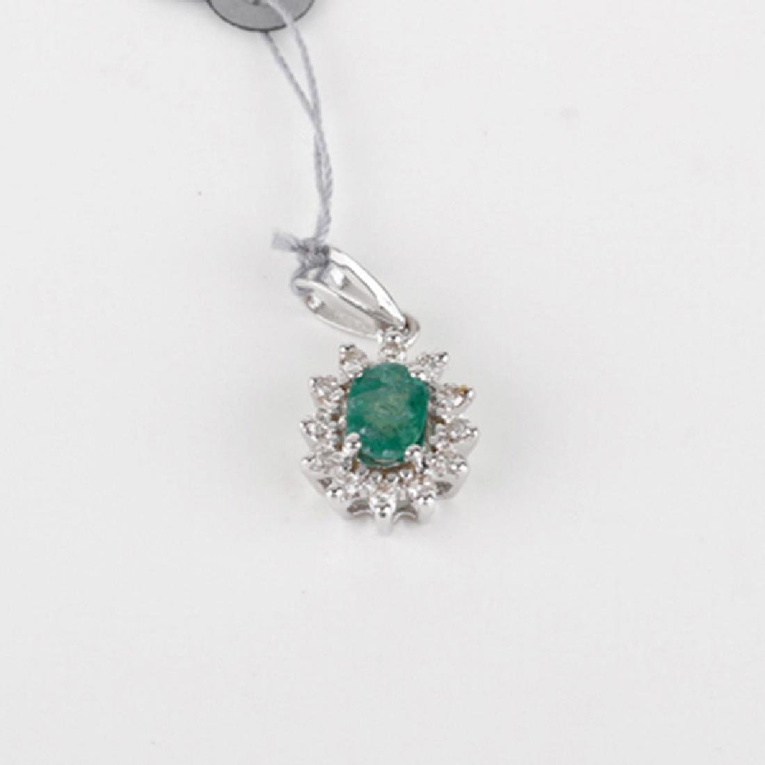 *Fine Jewelry 14KT White Gold, 0.50CT Emerald  And