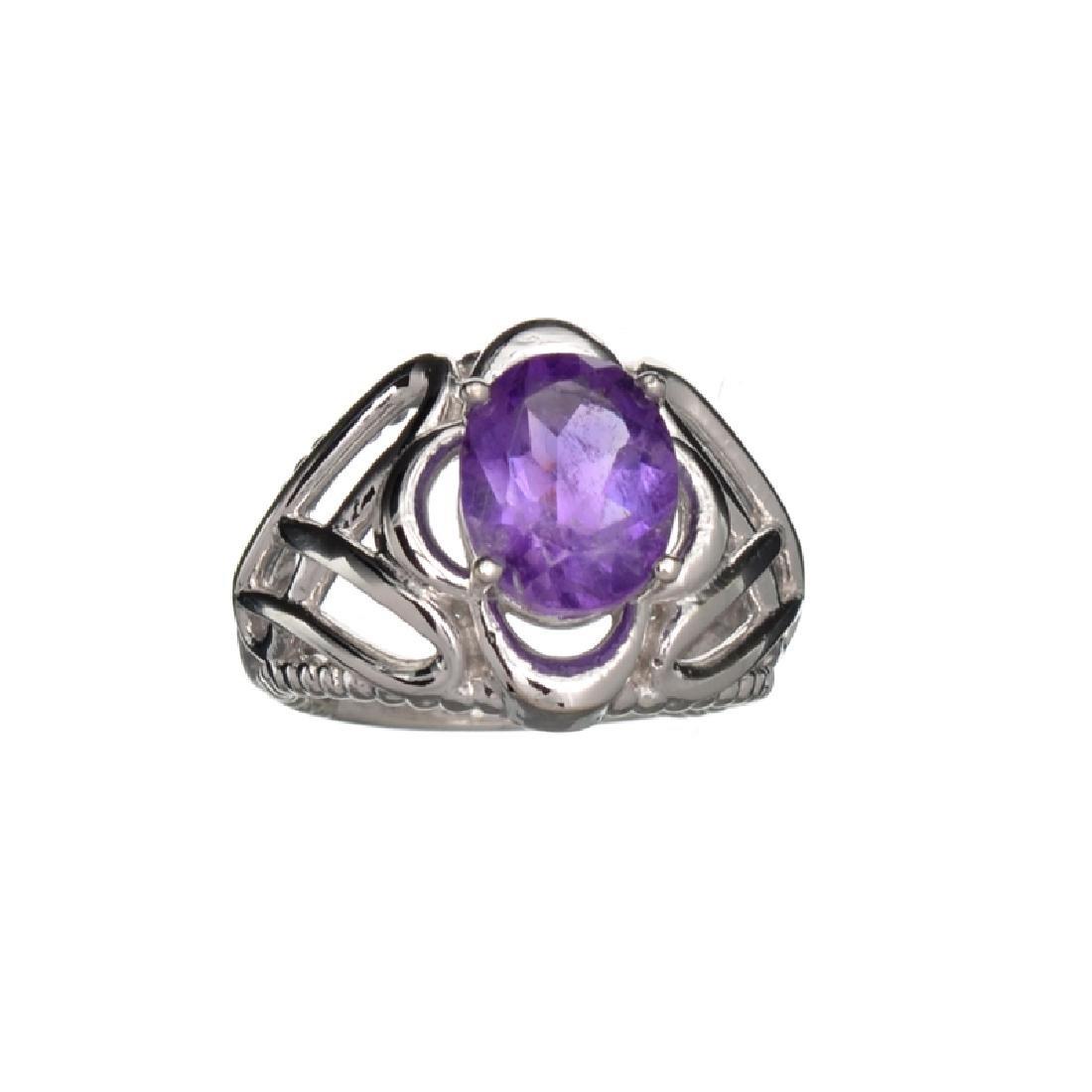 APP: 0.5k Fine Jewelry 2.40CT Oval Cut Purple Amethyst