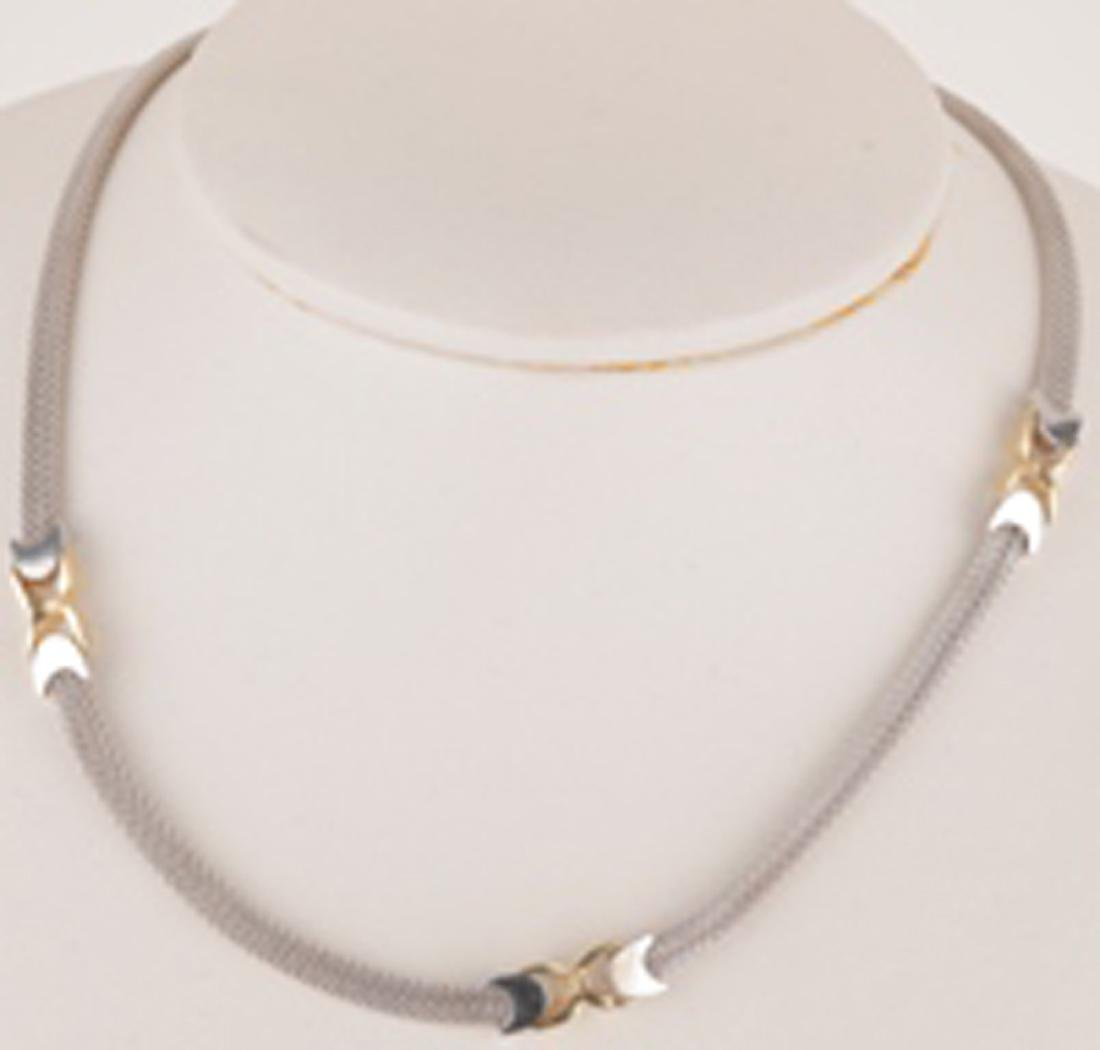 *Fine Jewelry 14KT White/Yellow Gold, 16'' Weave Style