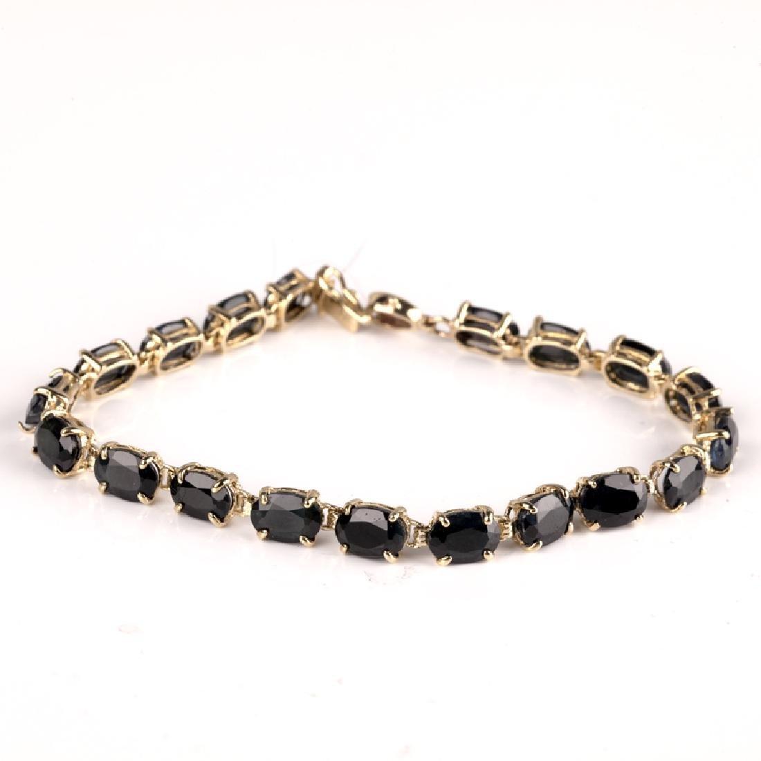 *Fine Jewelry 14 kt. Gold, New Custom Made, Blue