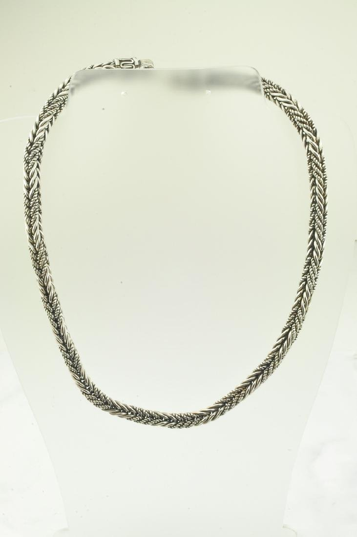 *Fine Jewelry 925 Sterling Silver Bali Chaine Necklace