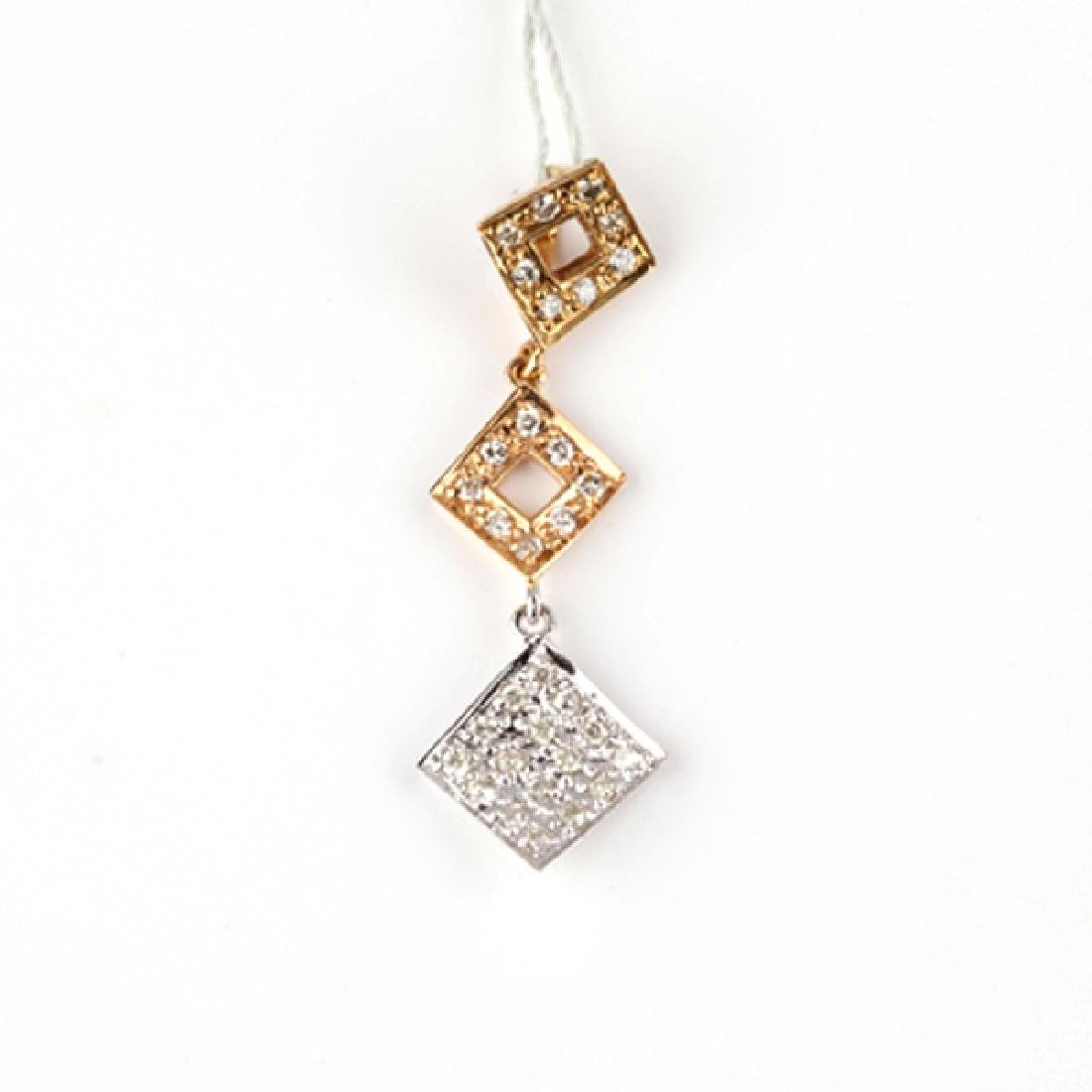 *Fine Jewelry 14 kt. Gold, New Custom Made 0.18CT