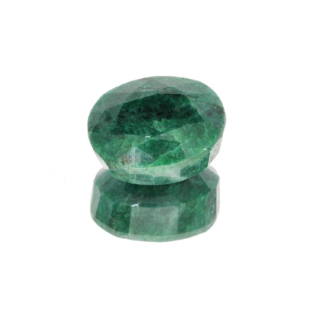 APP: 6.3k 84.35CT Oval Cut Green Emerald Gemstone
