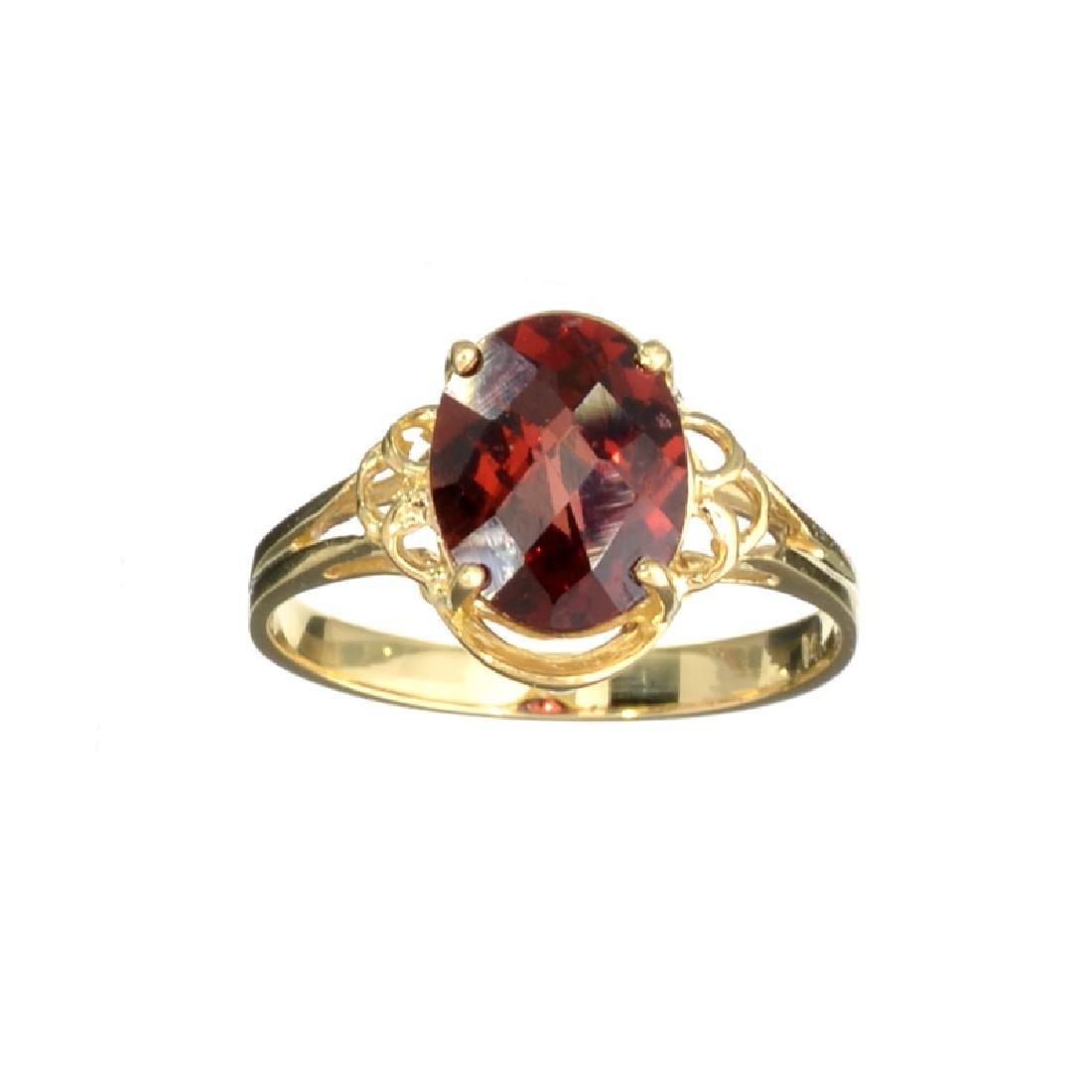 APP: 0.6k Fine Jewelry 14KT Gold, 3.21CT Oval Cut Red