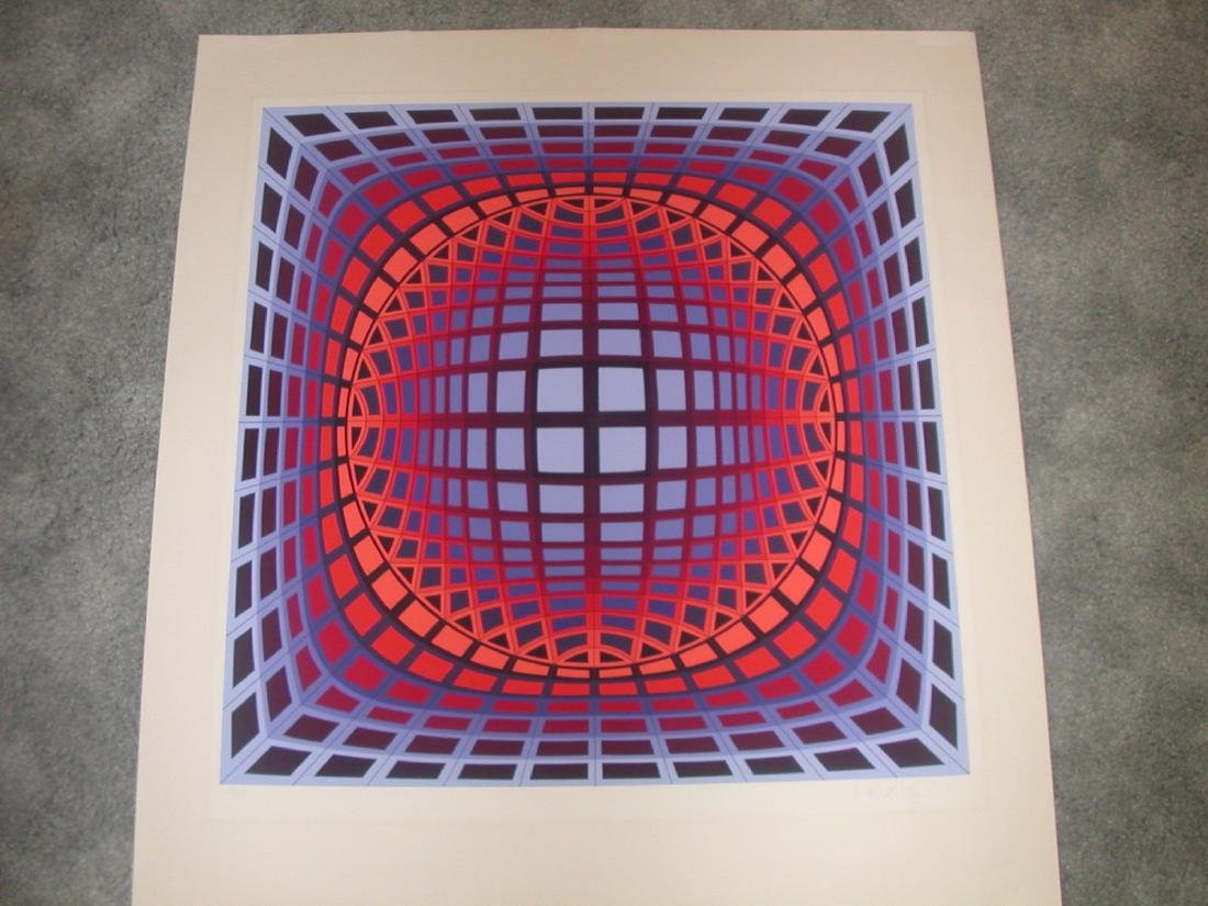 Victor Vasarely Serigraphs #23/250 Paper Size 30 x 32