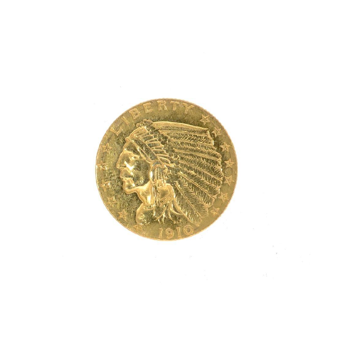 *1910 $2.50 U.S. Indian Head Gold Coin (JG N)