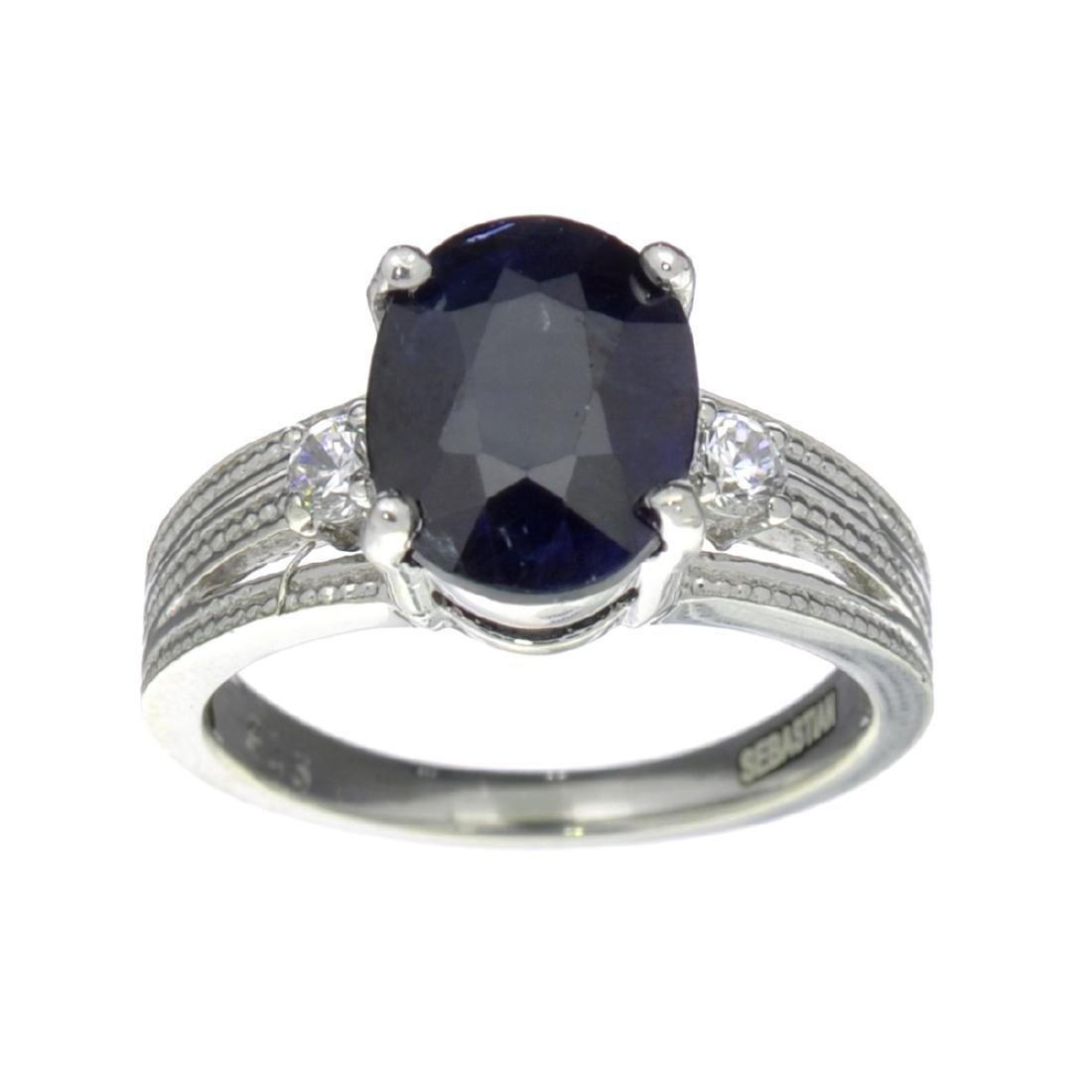 Fine Jewelry Designer Sebastian 2.87CT Bllue Sapphire