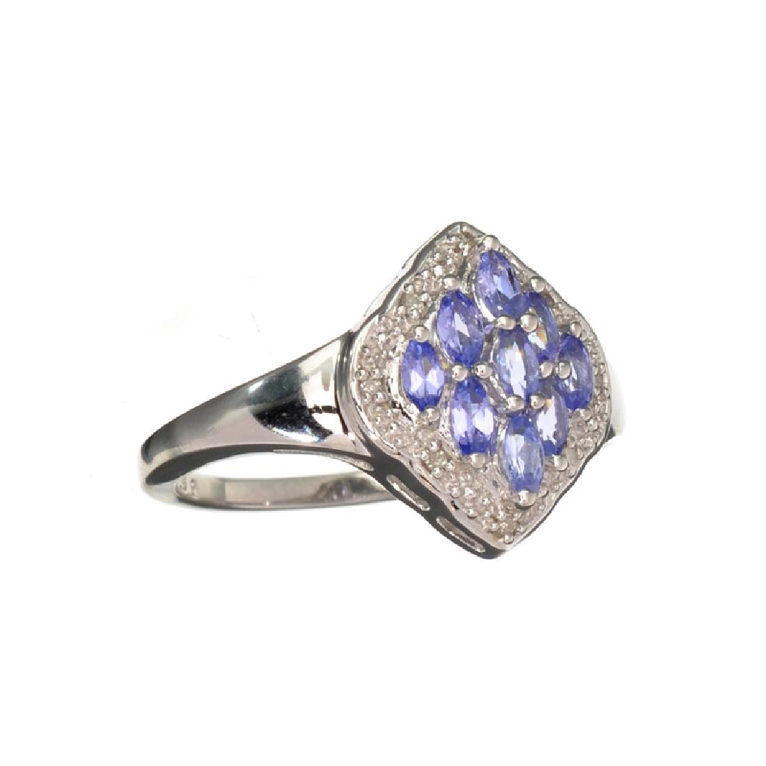 APP: 1k Fine Jewelry 0.55CT Marquise Cut Tanzanite And