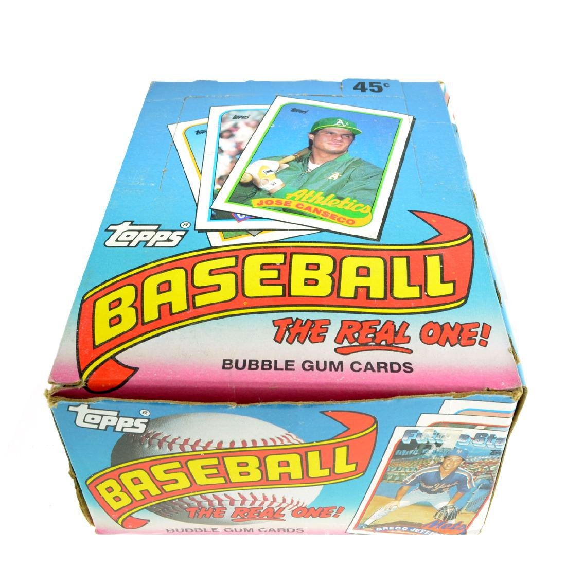 1989 Box Of Topps Bubble Gum Baseball Cards 36ct