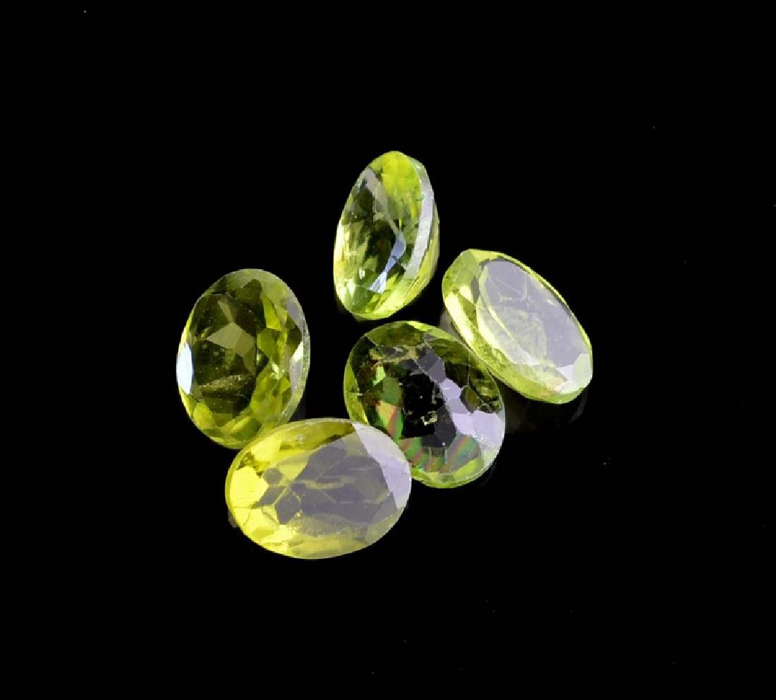 APP: 1.2k 6.16CT Oval Cut Green Peridot Parcel