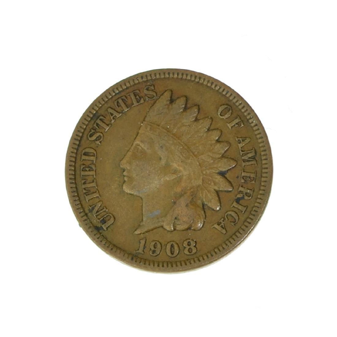 *1908-S Indian Cent Coin (JG)